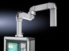 En ergonomisk arbetsplats byggd med modulsystem.