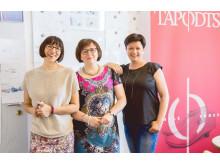 TAPODTS® Gründerinnen (v.l.) Britta Biele,  Cornelia Jahnel, Jeannette Scharf