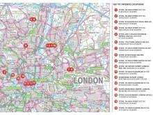 Moped-enabled burglaries - map