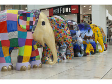 Schools parade: Six elephants from Gateshead children join the Elephant Parade UK tour today.