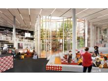 Kulturkorgen -  vy från bibliotek
