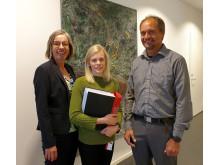 Maria Olsson Exploateringschef Övik Energi , Sara Andersson Projektledare Övik Energi och Tim Hammar Operativ chef Netel AB.