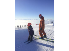 Familjeskidåkning på Åreskutan - Skiing with kids