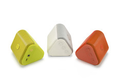 HP Roar Mini Wireless Speaker, Yellow, White, and Orange