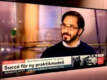 Morgonstudion SVT 2018-02-01 Swedaviamedarbetaren Issam Keseby. Foto Hans Uhrus