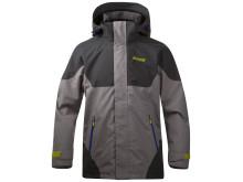 Evje Youth Jacket - Solid Light Grey/Solid Dark Grey/Warm Cobalt Blue