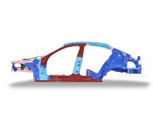 Previous BMW 5 Series - each colour denotes a different material type