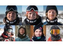 Syv norske kjemper om plass i X Games Oslo. Fotomontasje: Snowboardforbundet