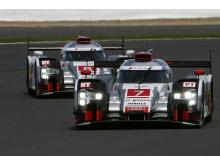 Audi #7 og #8 at Silverstone