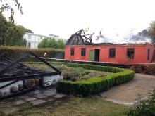 Gartnerbolig og drivhus på Brede Værk er brændt
