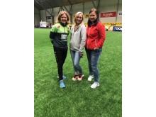 Hege Riise, Emma Sørensen, Jane Laache