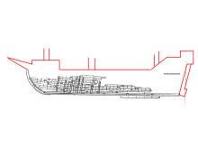 Riddarholmsskeppet-genomskärning