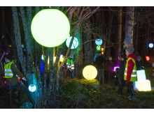 Ljusfest vid vattentornet