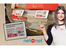 Elektroniska hyllkantsetiketter till NetOnNets Lagershoppar