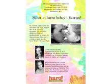 Haro-seminarium Almedalen 2013 - Möter vi barns behov i Sverige?