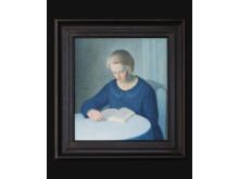 Grand Antiques, Larssons Konsthandel, akvarell på duk, Stefan Johansson.