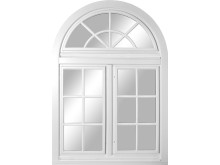 Fönster med halvrund överdel, special