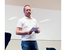 Ingemar Harila på Tyréns föreläste på Nolia Ledarskap i Piteå.