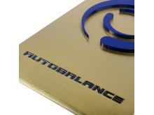 Metallskylt Auto balance