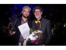 Årets varumärke vanns av This Is How. På bild Gustaf Ahlin och Mats Långström.
