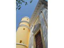 Tårn i Sankt Olav Kirke i Serampore efter restaurering