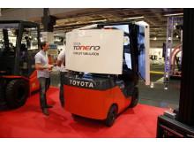 Toyotas Tonero-simulator visades för första gången i Sverige