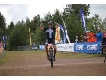 Carl Fredrik Hagen jubler over NM gull 2016