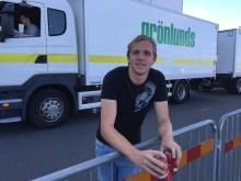 Sebastian Larsson pustar ut efter sin körning. Den här gången räckte det inte ända fram.