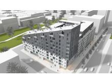 MKB bygger 187 nya lägenheter i Västra hamnen, Malmö.