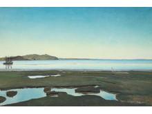 L.A. Ring. Sommmerdag ved Roskilde Fjord, 1900. Olie på lærred, 95,5 x 145,5 cm. Randers Kunstmuseum. Foto Randers Kunstmuseum