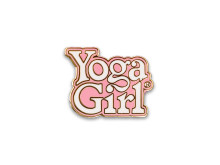 Yoga Girl pink logo pin