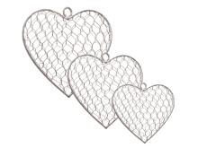 Hjärtan av hönsnät set om 3 st i rad
