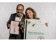 Fyra bokstäver vinnare Publishingspriset 2018