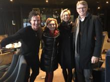 Foto til fri bruk, fra venstre: Petter Stordalen, Chantal Restivo-Alessi, Anette Ekstrøm og Brian Murray.