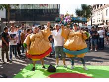 Takeda Azubis beim Stadtfest Singen 2017 / Sumoringen II