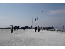 Visbys nya kryssningskaj är 599,5 meter