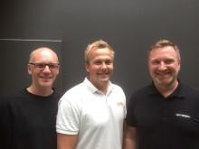 F.v. Torstein Jortveit, Glenn Olsen, daglig leder Byggi Randesund og Hans Olav Wetrhus.