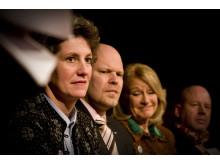Foto från panelen om cancerprevention på Världscancerdagen 2010