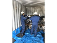 First shipment of recycled automobile parts to Myanmar