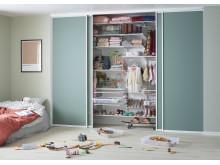 Garderob för kläder och leksaker - soothing sage