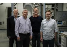 De fyra huvudforskarna bakom kvantdatorprojektet