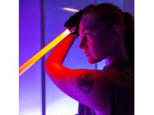Lasersvärdsfäktning på MegaHelg. Foto: Anna Gerdén