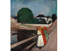 "Edvard Munch, ""The Girls on the Bridge"", Ca. 1901"