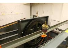 Paternosterhiss – maskinrum med drivkugghjul