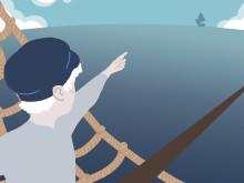 Skagerraks kapare på Havets Hus, Illustration av Sara Andreasson