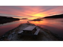 Soluppgång över Lofssjön