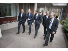 f.v. Sverre Danielsen (DNV GL), Sven Mollekleiv (DNV GL), H.K.H. Kronprins Haakon, Henrik Madsen (DNV GL), Einar Tore Moe (DNV GL)