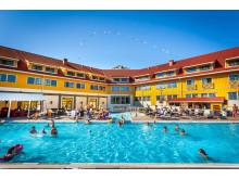 DE BESTE GJESTEOPPLEVELSENE: Nordic Choice Hotels scorer best i bransjen på lojalitet hos gjestene. Bassenget ved Quality Hotel Kristiansand frister det nok å besøke igjen.