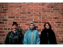 Marta Forsberg, Ellen Arkbro, Lo Kristenson, kompositionsstudenter vid KMH. Foto: Marcus Pal.
