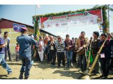 Banner - Utviklingsminister Nikolai Astrup åpnet Shree Devitar Basic School i Dolakha i Nepal